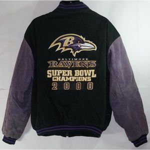 Baltimore Ravens Super Bowl Suede Jacket XXL
